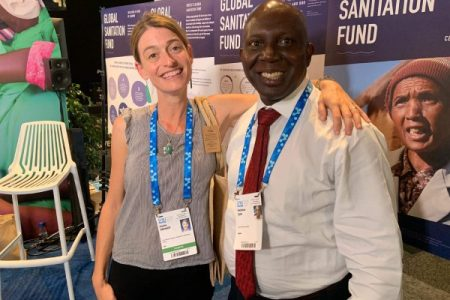 Dr. Nicholas Igwe - CEO and Dr. Sasha Kramer -Co-Founder and Executive Director of Sustainable Organic Integrated Livelihoods (SOIL)